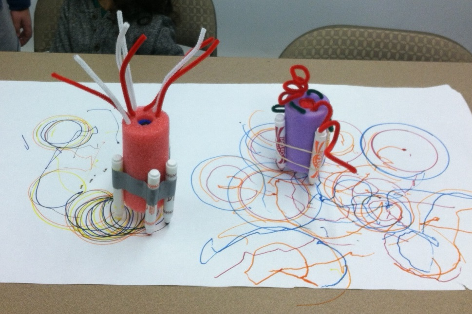 How to Make a Pool Noodle Art Bot|Sophie's World - YouTube  |Art Bot Pool Noodle