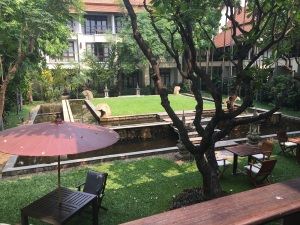 Inner courtyard of the hotel I stayed at (Bodhi Serene).